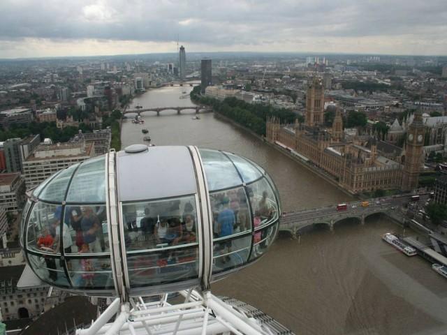 Pohled z Londýnského oka