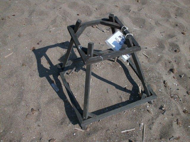 Ohrádka na želví vejce na pláži - Řecko Zakynthos