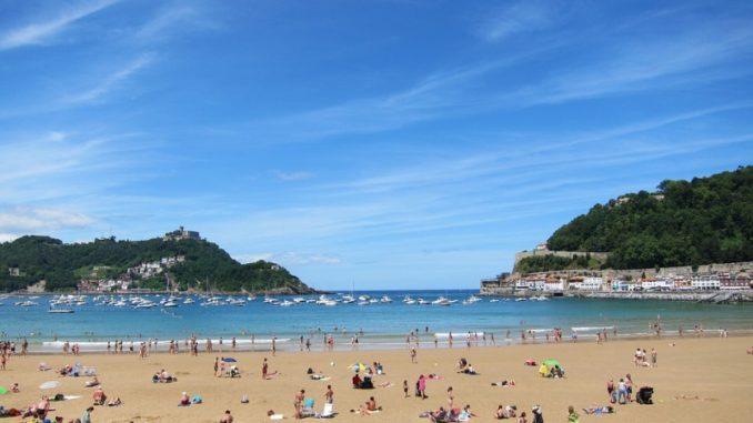 španělsko pláž san sebastian