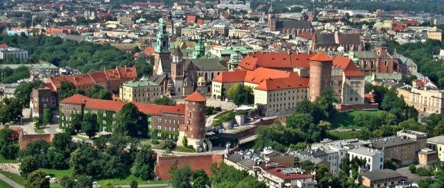 Město Krakow Polsko